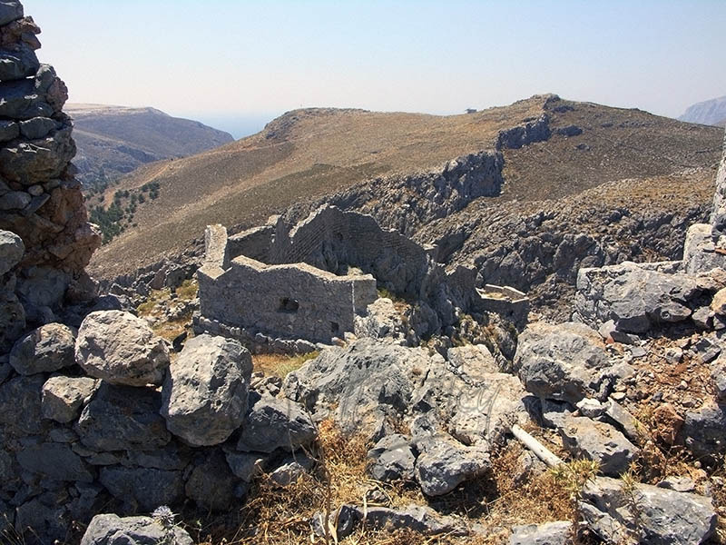 Interior of Pera Kastro Castle, Horio.