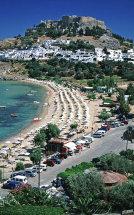 Lindos Beach. (a).