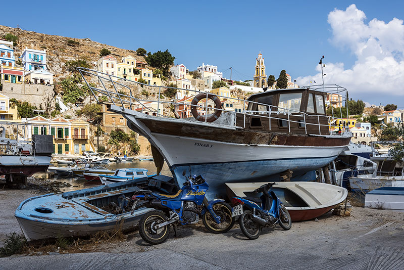 Old Boat in Symi
