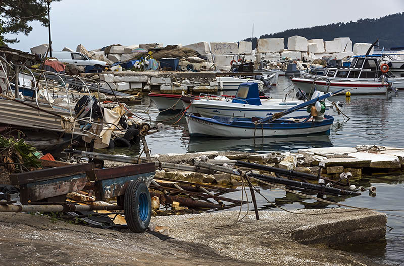 Ramshackle Harbour, Skala Panagia (c)
