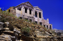 Ruins in Symi Town. (b).