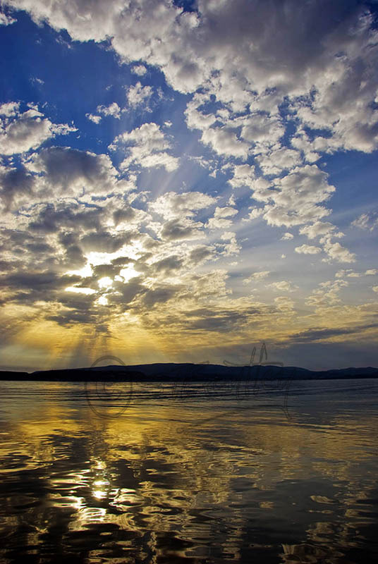 Sunset from Kalamia Beach, Lassi.(b).