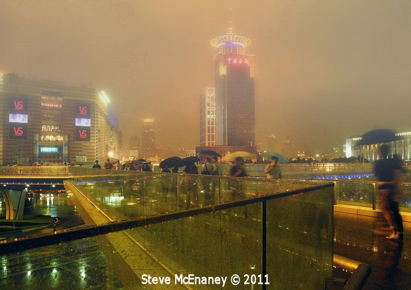 Wet night in Shanghai
