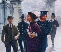 Emily Pankhurst arrest