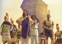 Hanno 'the Great' addresses the mutineers, Libyan war 240 BC.