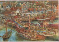17th Century spread- detail
