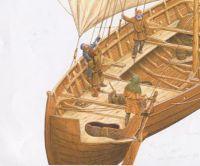 Viking ship, cut away