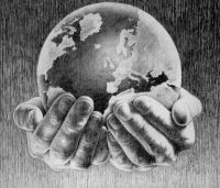 Hands & globe