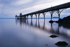 Clevedon Pier Blue