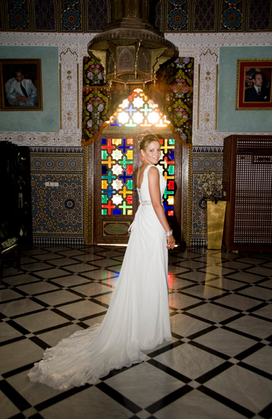 Bride Marrakech wedding dress
