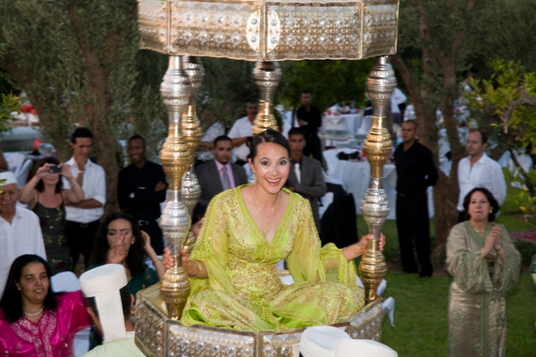 Bride throne Marrakesh