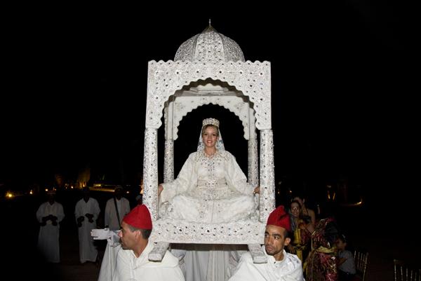 Bride throne Marrakesh wedding