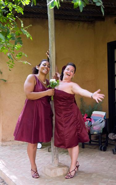 Bridemaids happy wedding