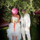 Funny wedding portrait Morocco