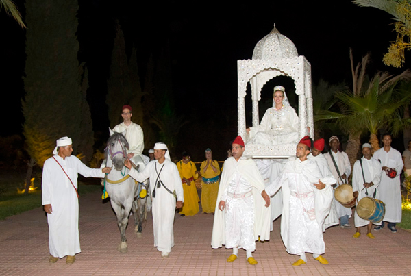 Wedding bride throne Marrakesh