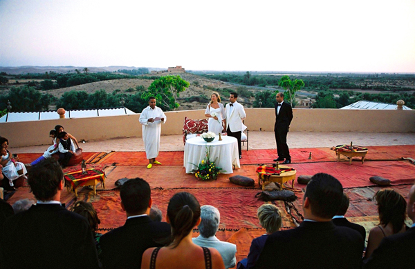 Wedding ceremony Kasbah Agafay Marrakesh