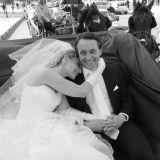 Wedding couple carriage Marrakesh