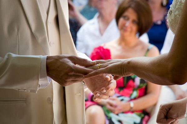 Wedding rings hands Marrakesh