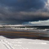 Banff beach in the snow
