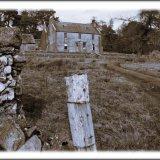 Deserted hunting lodge