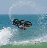 Jetskier in action at St Ouen