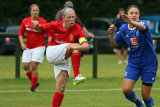 Captain of the Jersey Ladies Team Island Games 2015 in action