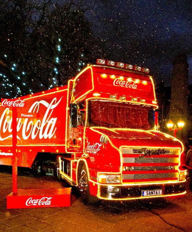 coca cola christmas truck in preston - Coca Cola Christmas Commercial