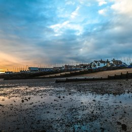 Sunrise on the seafront Whitstable