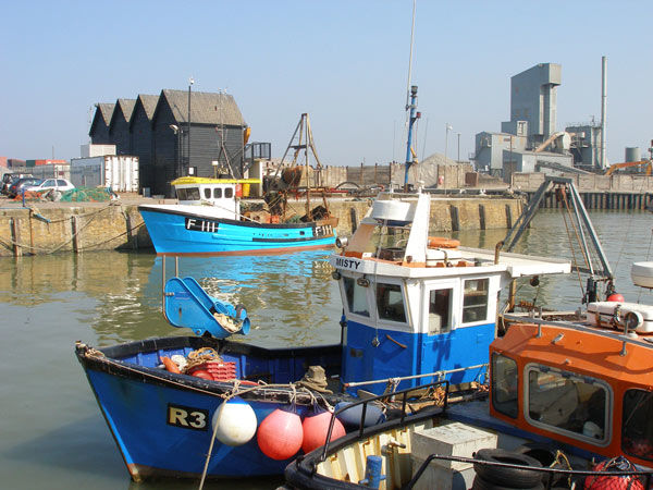 Whitstable Harbour and Huts