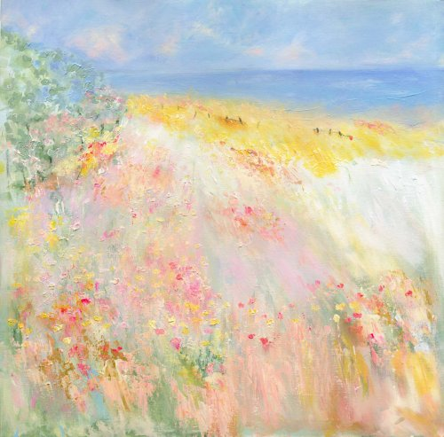 Hayfields by the sea