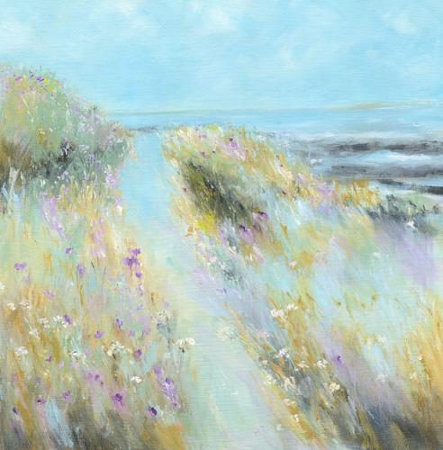 Spring coastal pathway