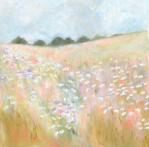 Summer hayfield