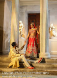 Indian Wedding Couple at Roman Temple
