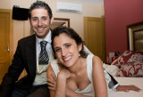 Bride and Groom at their home after the wedding by London Wedding Photographer Philip Pound