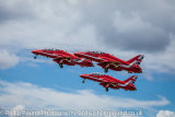 3 Red Arrows Jets Taking Off