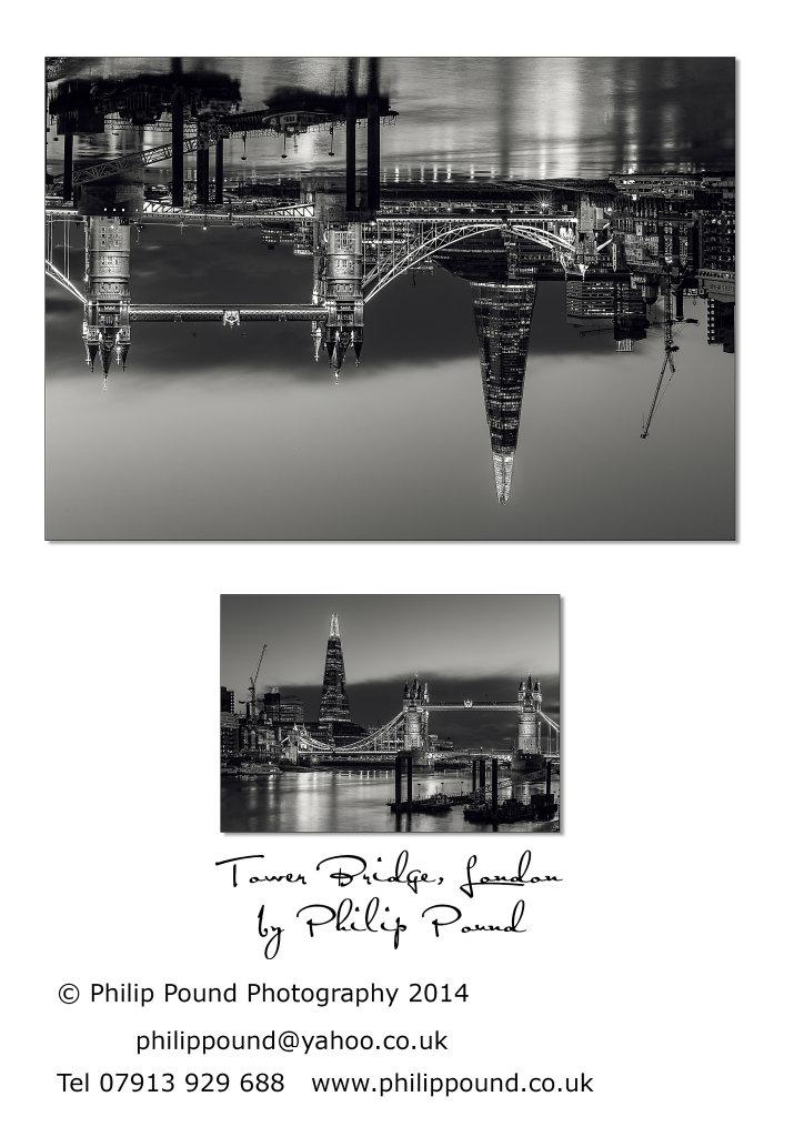 Tower Bridge London - black and white night view