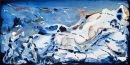 Abstract Painting (untitled) Acrylic 60cmX119.5cmX1.8cm