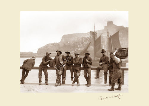 'Fishermen by Harbour Rail'