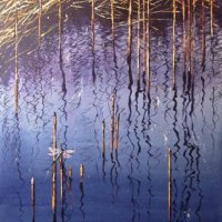 Calligraphic Reflections watercolour