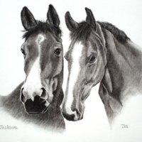 Tia and Jackson pencil commission