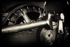 Coal mine winding engine detail.