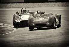 Maserati vs Jag, Donington Historic 2012.