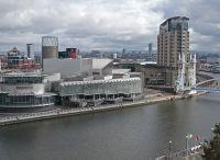 Manchester docks- no ships.