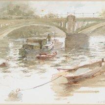 Boat & bridge scene