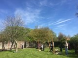 Painting in the walled garden