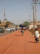 Walking into Bamako