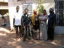 The Team. Oumar, Kader, Awa, Amy and Bassidy, with little Sidi, Kader and Awa's baby.