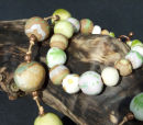 yellow / green bracelet and necklace