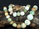 natural green beads