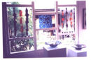 Glass panels with inclusions - Open Studios